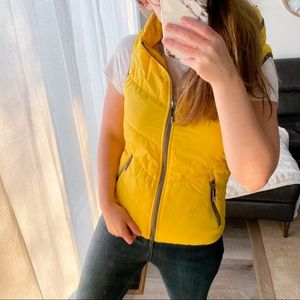 NWOT Bench Urbanwear Yellow Hooded Puffer Vest